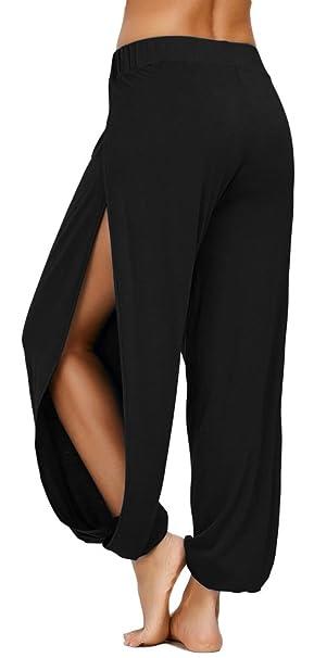 6c3620687b42 AvaCostume High Slit Harem Pants Women Genie Hippie Harem Pants ...
