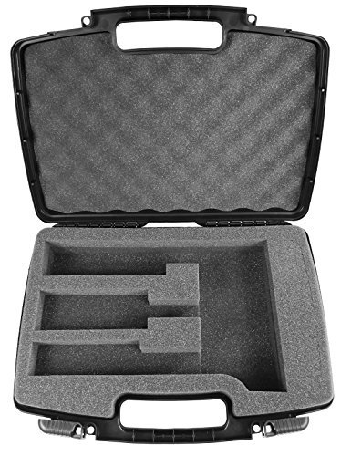 CASEMATIX Hair Styling Case Compatible With Clipper, Trimmer, Finisher For Stylist holds Oster Classic 76, Wahl, Andis and Other Hair Clippers and Trimmer Accessories in Customizable Foam