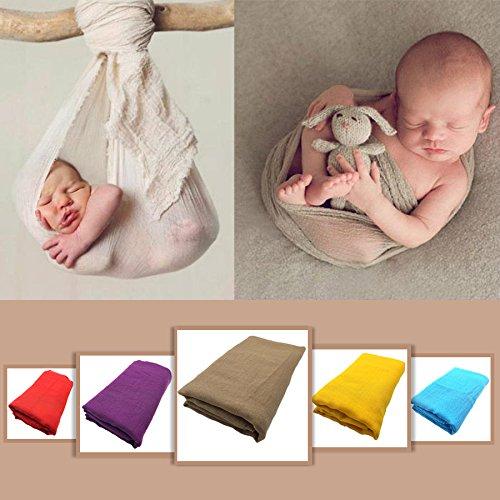 1pc Ewborn Baby Infant Wrap Knit Towel Baby Photography Props Wraps Cloth Gauze Blanket & Swaddling Baby Bedding