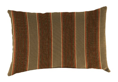 Jordan Manufacturing Rectangle Toss Pillow in Acrylic Davidson Redwood, 18 by 12-Inch - Made with Acrylic fabric to give a beautiful look for a long time 100-percent Made in USA This product is easy to maintain with a mild soap and warm water - patio, outdoor-throw-pillows, outdoor-decor - 51D4At3SuJL -