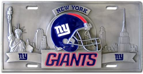 NEW YORK NY GIANTS NFL #1 FAN LICENSE PLATE ALUMINUM METAL CAR TRUCK TAG