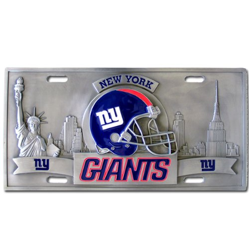New York Giants License Plate Frame (New York Giants NFL Collector's Plate)
