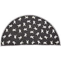 VHC Brands Primitive Flooring - Black Primitive Star Black Half Circle Rug