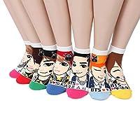BTS K-pop Star Socks (paquete de 7 pares) NB, talla única para todos: Mujeres 6-8.5