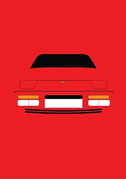 Porsche 944 turbo – Tarjeta de felicitación Retro Motor Company