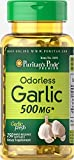 Puritan's Pride Odorless Garlic 500 mg-250 Rapid Release Softgels