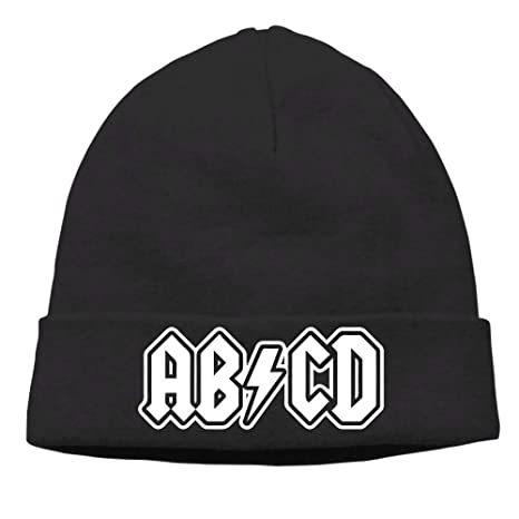 Amazon.com  WCMBY Mens ABCD Classic Skiing Black Beanies Cap  Sports ... d4672474bbb