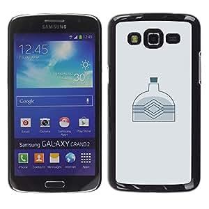 Samsung Galaxy Grand 2 II / SM-G7102 / SM-G7105, Radio-Star - Cáscara Funda Case Caso De Plástico (Minimalist Bottle)
