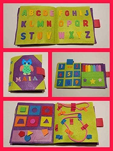 QUIET BOOK - Libro sensorial, Montessori, juguete