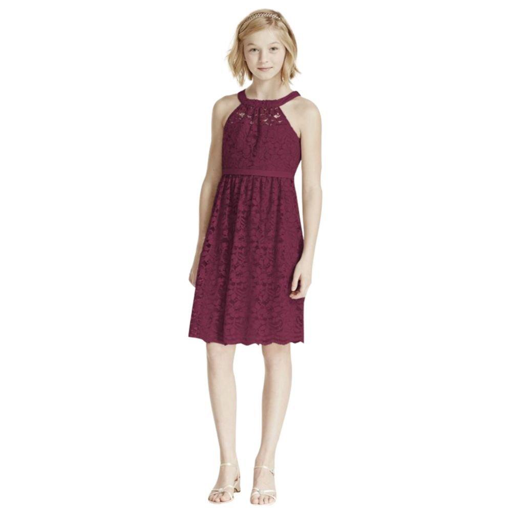 90cd0304ce1 Davids Bridal Red Lace Dress