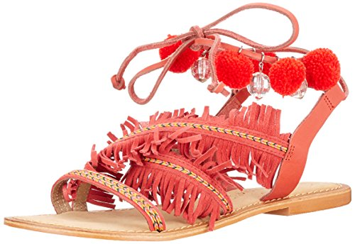 Femme Moda Vmwally Spartiates Rouge Leather Cayenne Vero Sandal xv8wCqw1