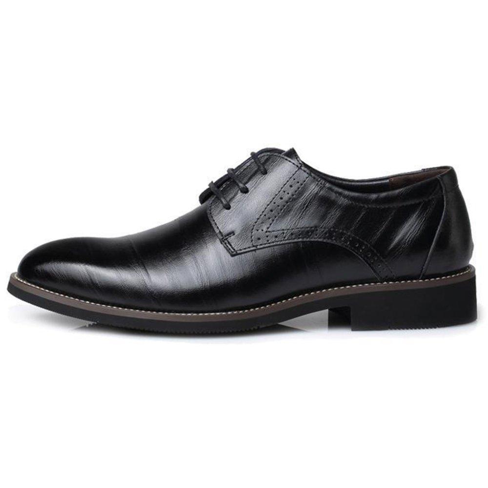 Zapatos De Cuero para Hombres con Cordones Antideslizantes Antideslizantes Zapatos De Fiesta De Comercio Clásico EU:40/UK:7|Black