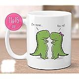 High quality ceramic mug Dishwasher safe Microwave safe T-Rex Trying To Hug dinosaur mug, t rex mug, funny dino mug, mug for boyfriend, mug for girlfriend, cute mug, dinosaur gift, funny gift