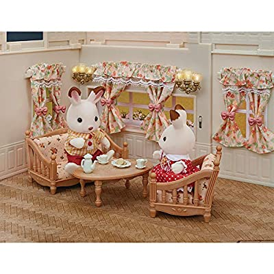 Calico Critters, Doll House Furniture and Décor, Wall Lamps & Curtains Set, Multicolor: Toys & Games