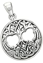 Tree of Life Celtic Pendant Sterling Silver
