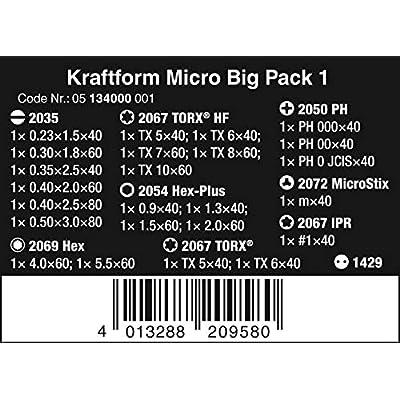 Wera Kraftform Micro Big Pack 1 Screwdriver Set for Electronic Applications, 25 Pieces: Industrial & Scientific