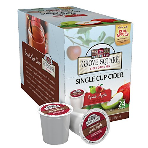 Grove Square Cider, Spiced Apple, 24 Single Serve - Apple Spiced Hot
