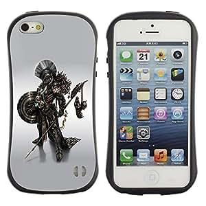 LASTONE PHONE CASE / Suave Silicona Caso Carcasa de Caucho Funda para Apple Iphone 5 / 5S / Metal Robot Warrior