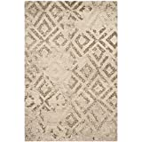 Safavieh Tunisia Collection TUN1911-KMK Ivory Area Rug, 3 feet by 5 feet (3′ x 5′) For Sale