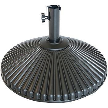 Abba Patio 50 Lbs Round Patio Umbrella Base Recyclable Plastic 23.4 Inch  Diameter Outdoor Umbrella Stand