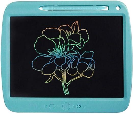 描画タブレット、ペンスロット付き9インチ液晶書き込みタブレット、USB充電ライト描画ボードキッズ1キークリアまたは部分的クリアキッズ大人ホームスクール Blue