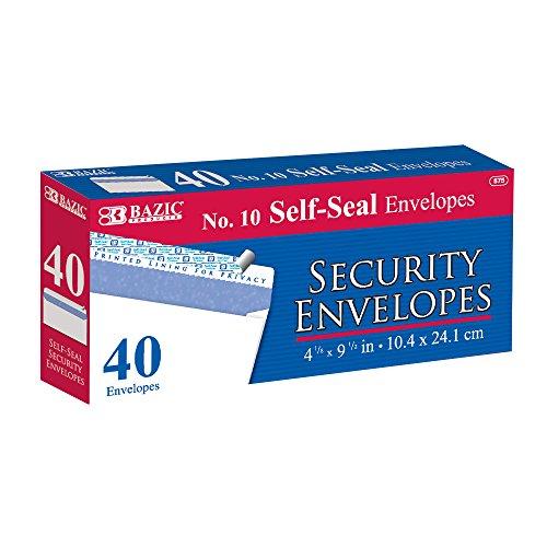 BAZIC Self Seal Security Envelope Pack