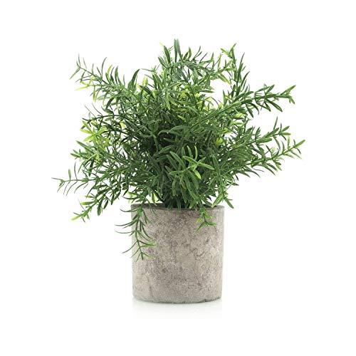 Velener Mini Potted Plastic Fake Green Plant for Home Decor