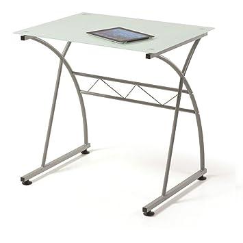 Mesa escritorio de cristal free mesa estudio y ordenador for Mesa cristal milanuncios