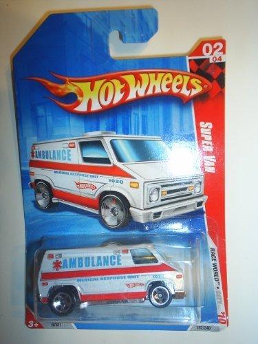Hot Wheels 2010 Race World Super Van Ambulance 1:64 Scale