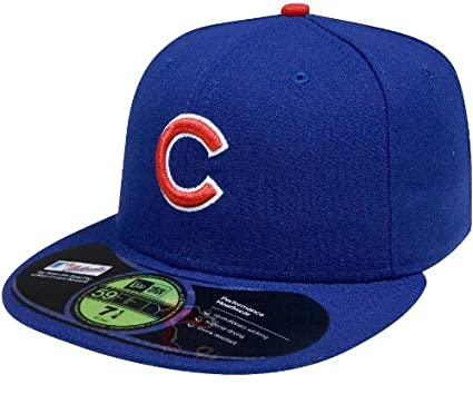 1e795edf628 Amazon.com   New Era 59Fifty MLB Chicago Cubs On Field Fitted Hat ...