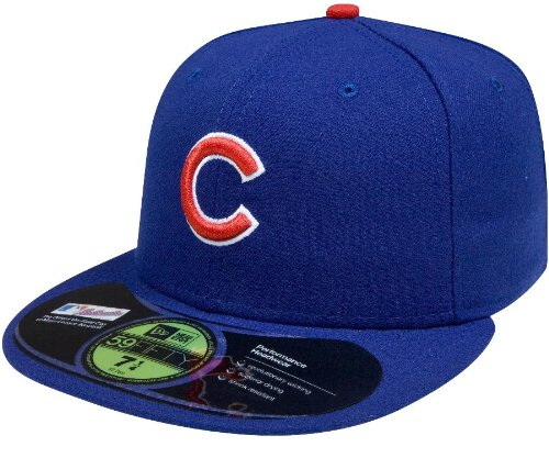 Field Game 59fifty Cap (MLB Chicago Cubs Authentic On Field Game 59FIFTY Cap, 7 1/4,)