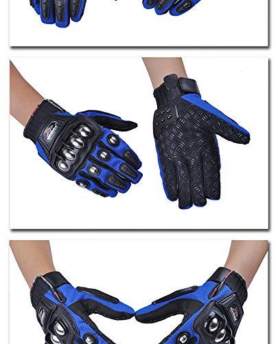 Blu LanLan Protezione Motocross Guanti Moto Full Finger Guanti Racing Guanti Protettivi Guanti Invernali per Uomo XL