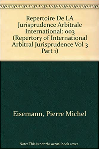 Coussirat: repertory of int.arb. v.3-1 (Repertory of