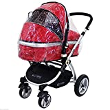 Universal Raincover Zipped To Fit iSafe Pram System by Baby Travel