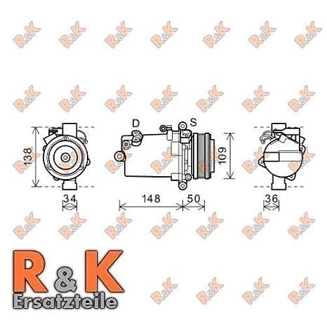 Prasco AVA Cooling Systems Compresor para Aire Acondicionado, bwak408: Amazon.es: Coche y moto
