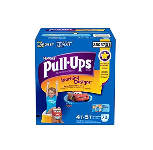 Huggies Pull-Ups Training Pants for Boys, Size 4T-5T (38+ lbs.), 72 ct. by Huggies