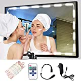 Hollywood LED Vanity Mirror Lights Kit - 60 LEDs 9.8 Ft Dimmable Lighting Strip for Makeup Vanity Table Set in Dressing Room, Soft Daylight White +Dimmer +UL Power Supply (Mirror NOT Included)