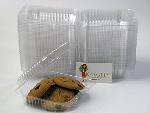 Katgely Small Square Cookie Container (Pack of 50) by katgely