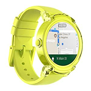 Ticwatch E Lemon Most Comfortable Smart Watch,1.4 inch OLED Display, Android Wear 2.0,Compatible with iOS and Android, Live an organized life