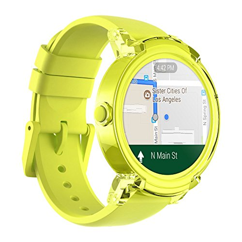 Ticwatch E Super Lightweight Smartwatch-Lemon,1.4 inch OLED Display, Android Wear 2.0,Compatible with iOS and Android, Google Assistant by Ticwatch