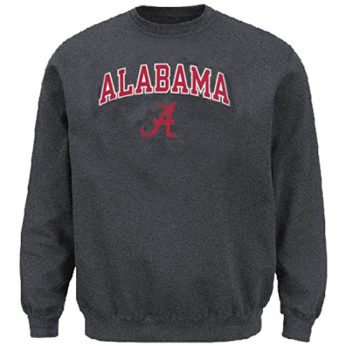 NCAA Alabama Crimson Tide Granite Stadium Powerblend Screened Crew Sweatshirt (Stadium Crew Sweatshirt)