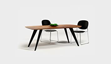 Generic Esstisch Oval Nordic Holz Tisch Massivholztisch Akazie