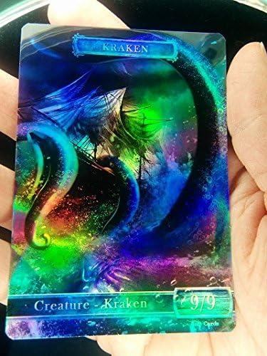 1x Kraken #1 *FOIL LAMINATED* Custom Altered Token MTG