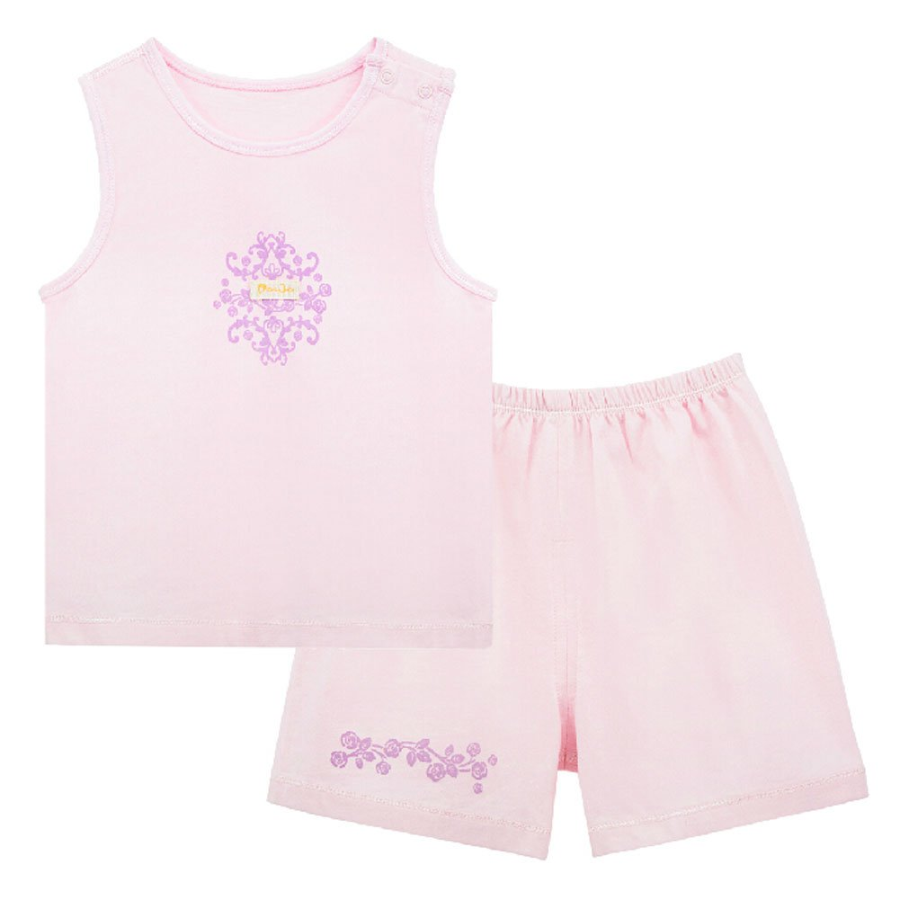 Baby Toddler Underwear Set Infant Vest& Shorts 2 Pieces Printing PINK 3-6M Blancho Bedding