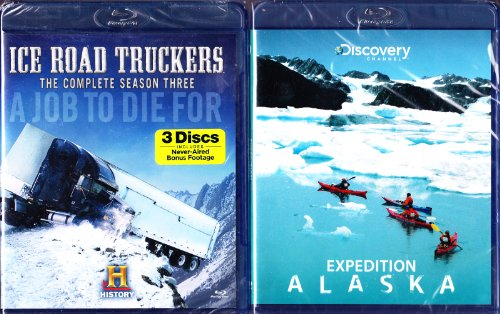 The History Channel : Ice Road Truckers Complete Season Three Blu-Ray , Discovery Channel Expedition Alaska Blu-Ray : Ice Cold 2 Pack : 4 Disc Set