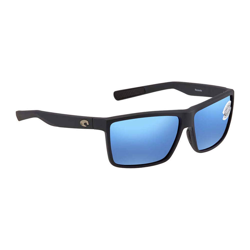 Costa Unisex Rinconcito Blue Mirror 580g/Matte Black Frame One Size by Costa Del Mar