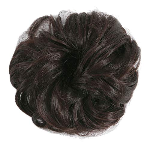 SLLIE Messy Hair Bun Extensions Chignons Hair Hair Scrunchie Scrunchy Updo Hairpiece