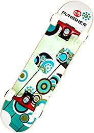 Punisher Skateboards 9005 Complete 31-Inch Skateboard with Canadian Maple