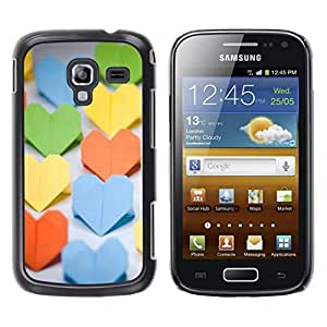 Paccase / SLIM PC / Aliminium Casa Carcasa Funda Case Cover - Paper Heart - Samsung Galaxy Ace 2 I8160 Ace II X S7560M