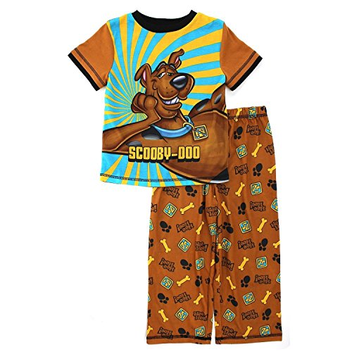 - Hanna-Barbera Little Boys' Scooby Doo Brown 2-Pc Pajamas Set K157780SC 2T